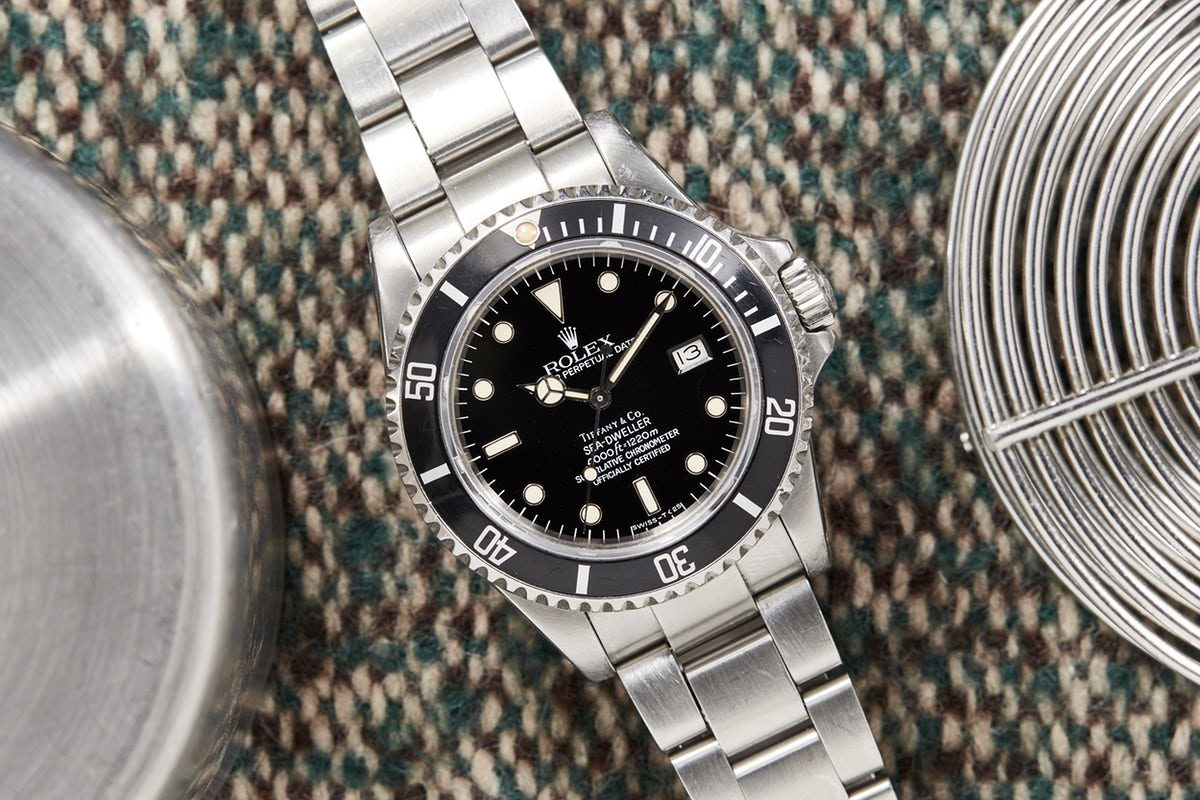 Bring a Loupe A Diamond-Studded Patek Philippe Ref. 2422 High End Replica Watch, A Tiffany-Signed Rolex Sea-Dweller, And A Seiko Diver Issued By The Swedish Military