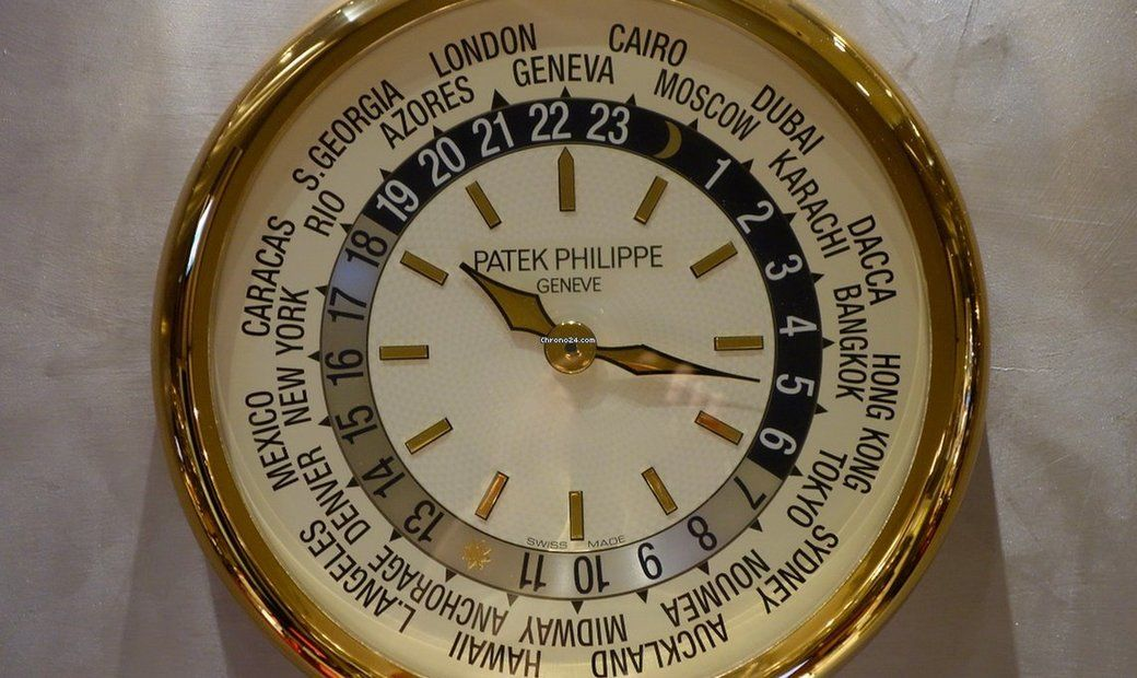 Patek Philippe Ore del Mondo Good Replica Watches- World Time Wall Clock – Orologio da Muro